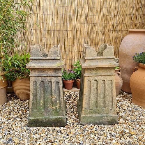 Victorian Buff Terracotta Chimney Pots