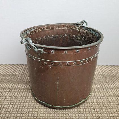 Old Riveted Brass Carrier / Planter