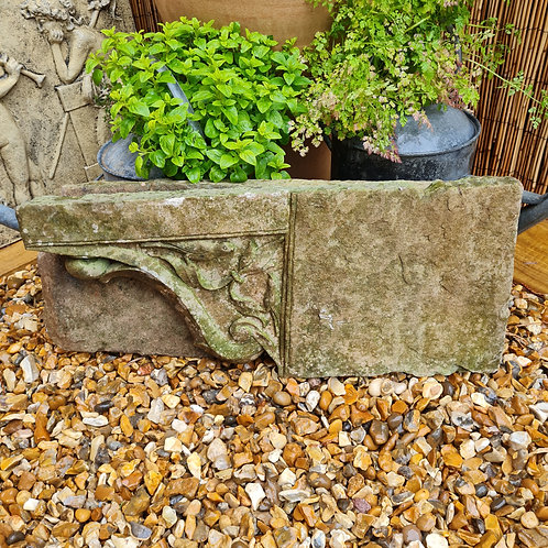 Pair of Antique Hand Carved Stone Corbels