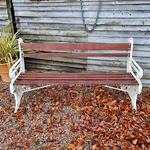 Aesthetic Period Cast Iron Bench