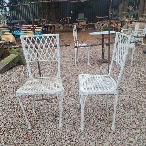 Pairs of Vintage Garden Chairs