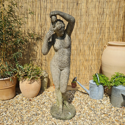 Weathered 4ft Garden Statue of a Goddess