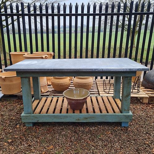 6ft Zinc Potting Table