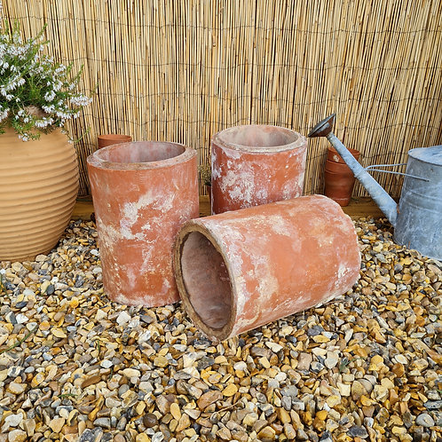 Set of Clay Pipe Planters