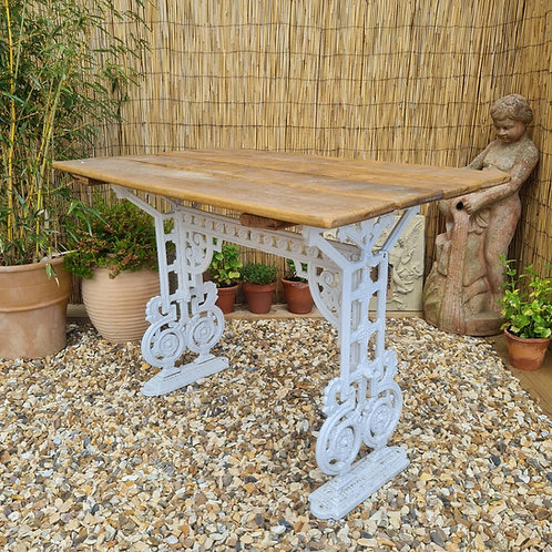 Refurbished Victorian Cast Iron Table