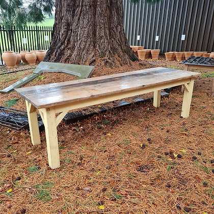 9ft Long Scrubbed Top Table