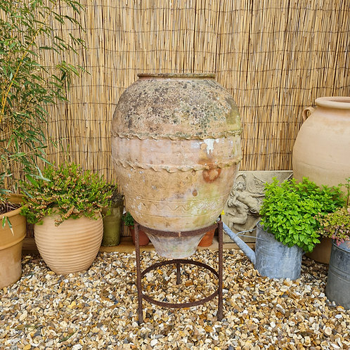 Weathered Terracotta Urn on Stand