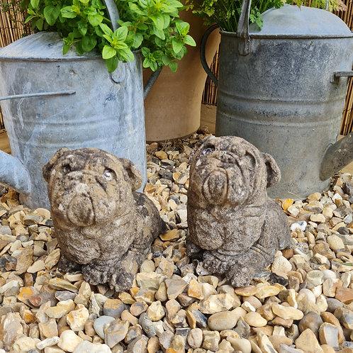 Pair of Small English Bulldog Statues