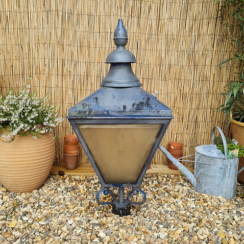Salvaged Copper Top Street Lamp