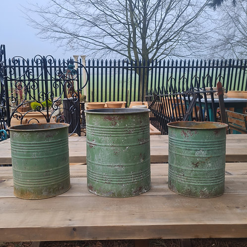 Collection of Metal Planters