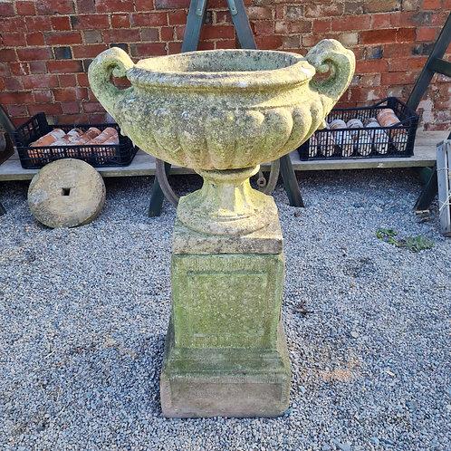 Pulhams Style Urn on Plinth