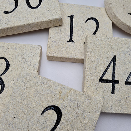 Costwold Stone House Numbers