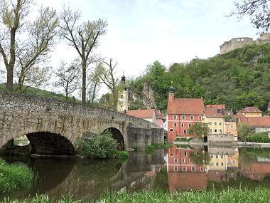 Haus Rafael Pielenhofen Blick auf den alten Ortskern von Kallmünz