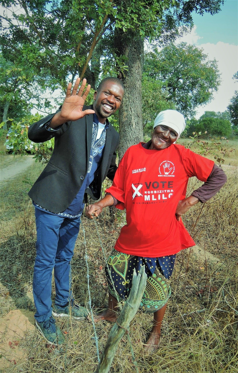 Candidate Mlilo, with Maria, near Driefontein Mission Photo: David Moore