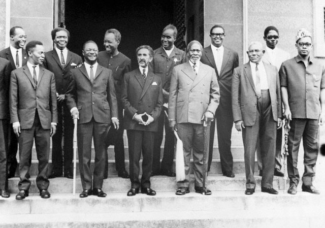 The founding fathers of the O.A.U in Addis Ababa 1963