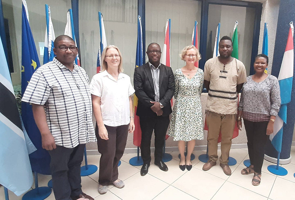 Crisis in Zimbabwe Coalition delegation meetingt with the Dep Head of Delegation of the European Union to Botswana Silvia Hamrouni & the Embassy of Germany Dep Ambassador Katja Nolte at the EU offices in Gaborone