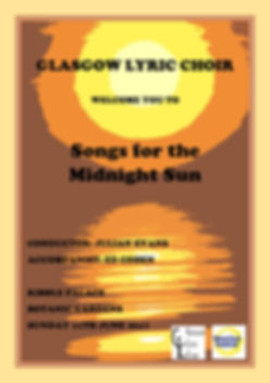 Glasgow Lyric Choir West End Festival Songs for the Midnight Sun