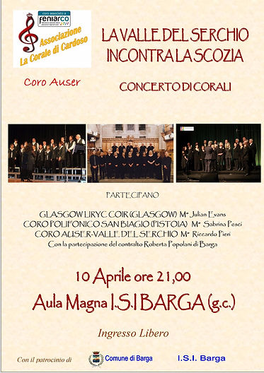 Glasgow Lyric Choir Barga 2018
