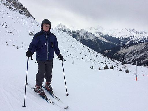 Zachary Abbott La Plagne Skiing