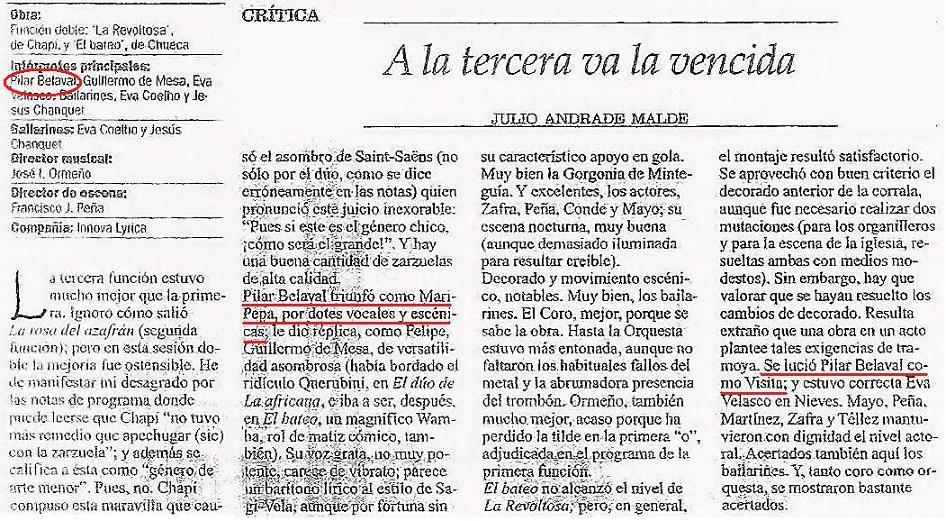 Crítica La opinión de Coruña