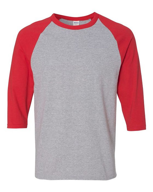 Adult Raglan 3/4 Sleeve Shirt - ALL Sizes