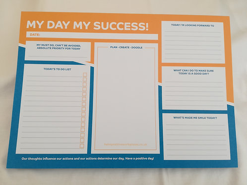 My day my success daily planner