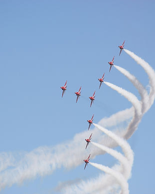 Formation flight of the Royal Air Force