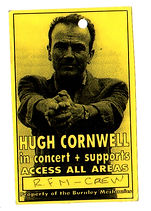 Russian For Money - Hugh Cornwell support laminate Burnley Mechanics late 90s