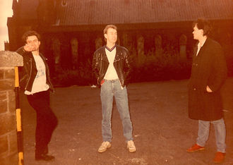 Russian For Money mid 80s L to R Lee Almond, Graham Pedder, Phil Walsh