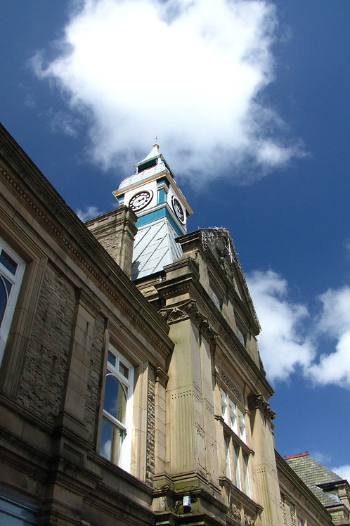 'Town Hall Clock' 10 x 15 Framed Print