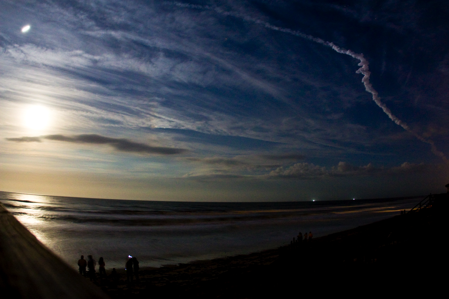 Full Moon Shuttle Launch