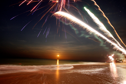 Tide Change - Moonrise - Fireworks