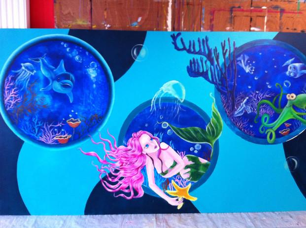 fresque école milieu marin