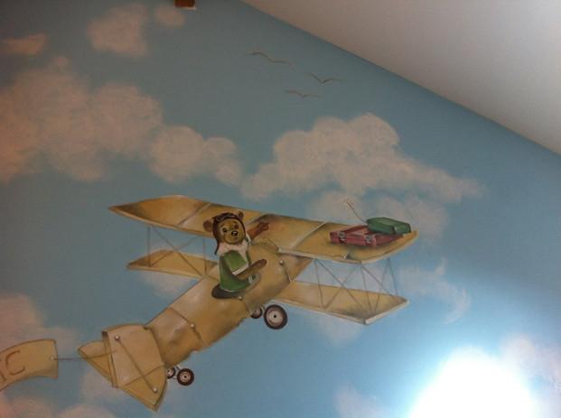 Fresque chambre d'enfant travail personnel