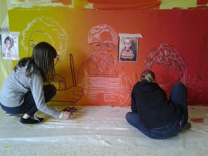 fresque participative collège