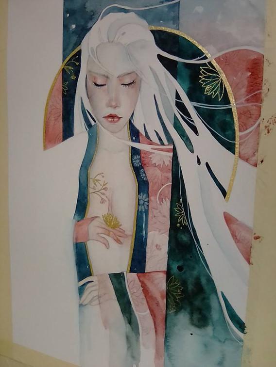illustration originale geisha