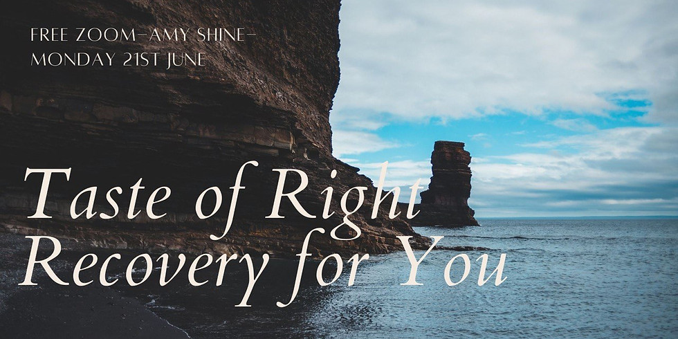 Free Taste of Right Recovery for You with Amy Shine