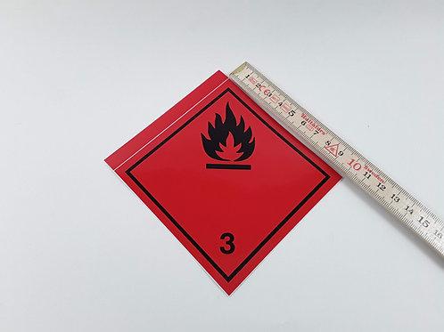 BX000077_Gefahrzettel Nr. 3, 10x10 cm (Aufkleber)