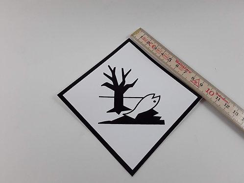 BX000092_Kennzeichen Umweltgefährdende Stoffe 10x10 cm (Aufkleber)