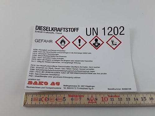 BX000108_Gefahrstoffetikette Diesel, GHS, 14x9.5cm (Aufkleber)