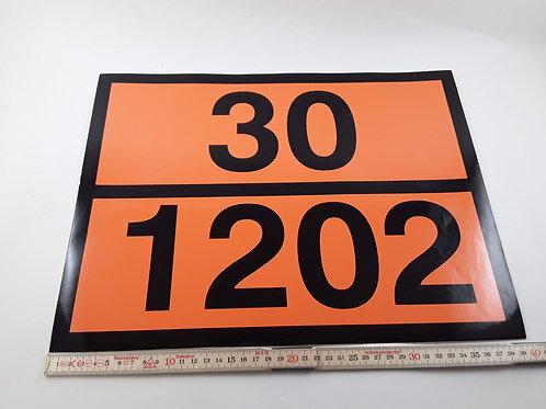 BX000075_Orangefarbene Kennzeichnung 30 1202, 40x30 cm (Aufkleber)