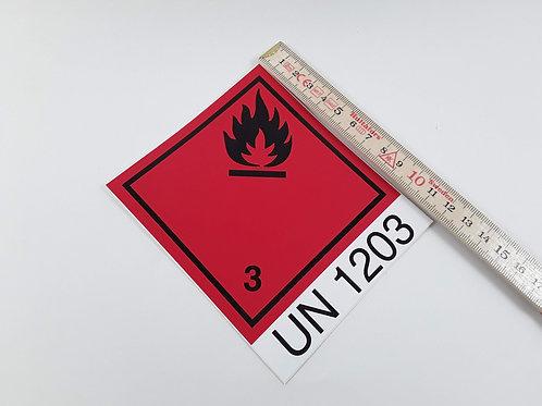BX000078_Gefahrzettel Nr.3 mit UN1203 10x12 cm (Aufkleber)