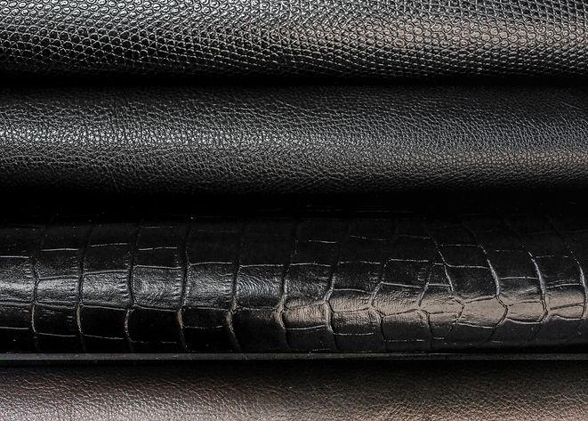 Imagem com rolos de couro preto