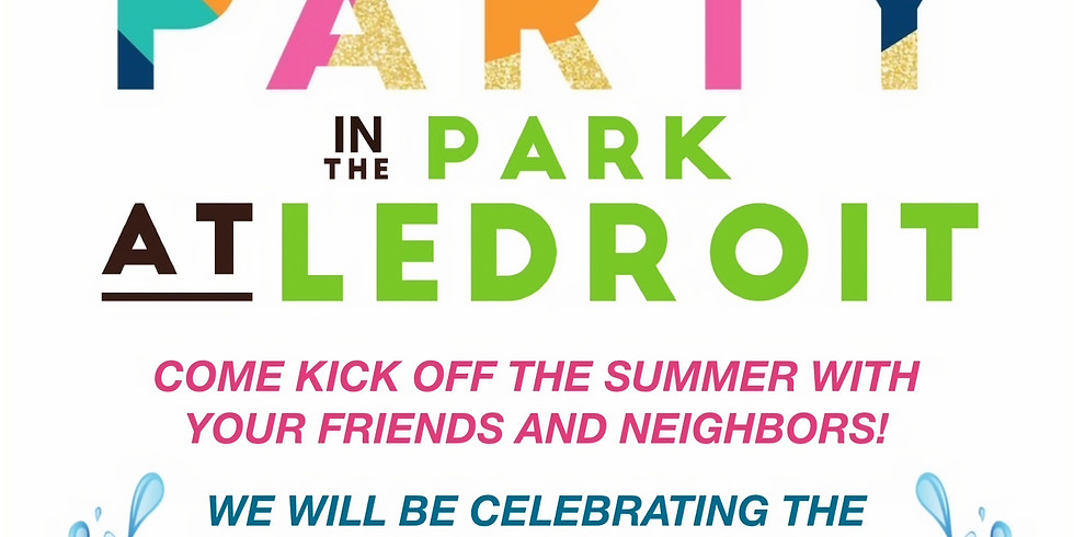 Summer Kick-Off Party in the Park!