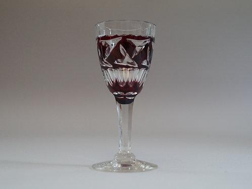 赤色切子リキュールグラス [M-063]
