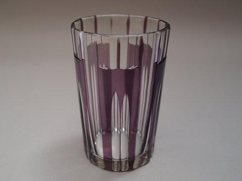 紫色切子コップ [M-052]