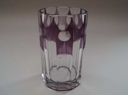 紫色切子コップ [M-046]