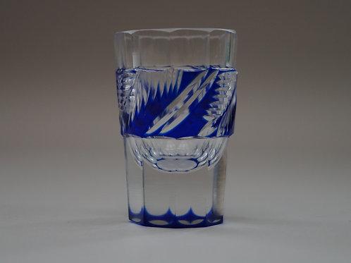 青色切子ショットグラス [M-062]