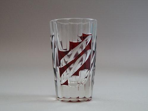 赤色切子ショットグラス [M-066]