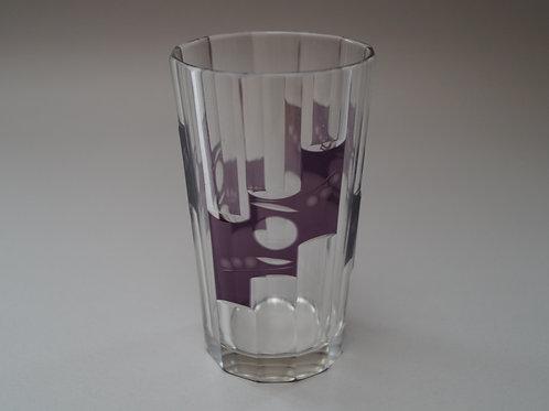 紫色切子コップ [M-036]